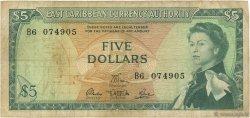 5 Dollars CARAÏBES  1965 P.14e TB