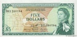 5 Dollars CARAÏBES  1965 P.14h SUP+