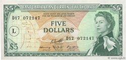 5 Dollars CARAÏBES  1965 P.14m SUP+