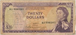 20 Dollars CARAÏBES  1965 P.15b B