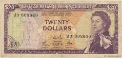 20 Dollars CARAÏBES  1965 P.15d TB+