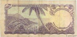 20 Dollars CARAÏBES  1965 P.15e TB+