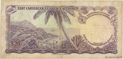 20 Dollars CARAÏBES  1965 P.15e TB