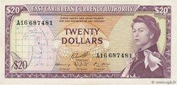20 Dollars CARAÏBES  1965 P.15g TTB à SUP