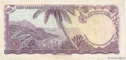 20 Dollars CARAÏBES  1965 P.15k TTB