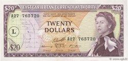 20 Dollars CARAÏBES  1965 P.15l SUP