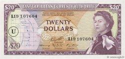 20 Dollars CARAÏBES  1965 P.15n pr.NEUF