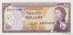 20 Dollars CARAÏBES  1965 P.15o SPL