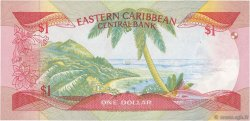 1 Dollar CARAÏBES  1985 P.17k SUP+