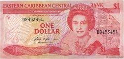 1 Dollar CARAÏBES  1985 P.17l TTB