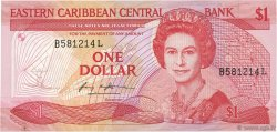 1 Dollar CARAÏBES  1985 P.17l pr.NEUF