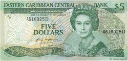 5 Dollars CARAÏBES  1986 P.18d NEUF