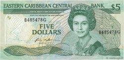 5 Dollars CARAÏBES  1986 P.18g SPL