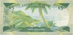 5 Dollars CARAÏBES  1986 P.18l TB+