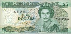 5 Dollars CARAÏBES  1986 P.18m NEUF