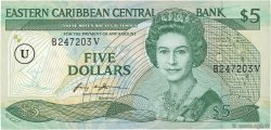 5 Dollars CARAÏBES  1988 P.18u SPL