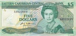 5 Dollars CARAÏBES  1986 P.18v SPL