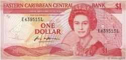 1 Dollar CARAÏBES  1988 P.21l SUP