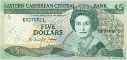 5 Dollars CARAÏBES  1988 P.22l2 pr.NEUF