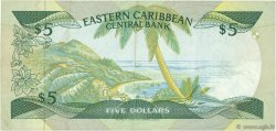 5 Dollars CARAÏBES  1988 P.22v TTB