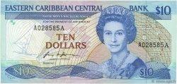 10 Dollars CARAÏBES  1985 P.23a1 SPL