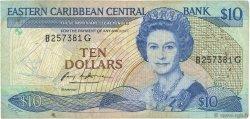 10 Dollars CARAÏBES  1985 P.23g TB