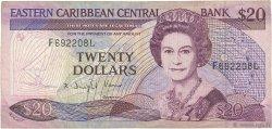 20 Dollars CARAÏBES  1988 P.24l2 TB+