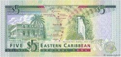 5 Dollars CARAÏBES  1993 P.26a pr.NEUF