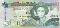 5 Dollars CARAÏBES  1993 P.26k NEUF