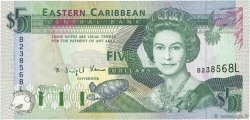 5 Dollars CARAÏBES  1993 P.26l pr.NEUF