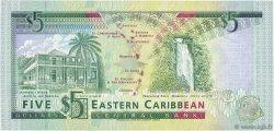 5 Dollars CARAÏBES  1993 P.26v NEUF
