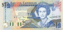 10 Dollars CARAÏBES  1993 P.27v pr.NEUF