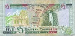 5 Dollars CARAÏBES  2000 P.37a NEUF