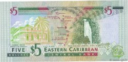 5 Dollars CARAÏBES  2000 P.37d1 NEUF