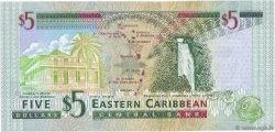 5 Dollars CARAÏBES  2000 P.37k1 NEUF