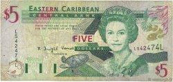 5 Dollars CARAÏBES  2000 P.37l TB