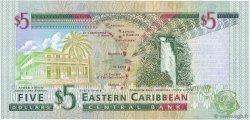 5 Dollars CARAÏBES  2000 P.37l NEUF