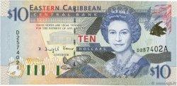 10 Dollars CARAÏBES  2000 P.38a pr.NEUF