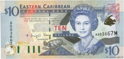 10 Dollars  EAST CARIBBEAN STATES  2000 P.38m