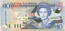 10 Dollars CARAÏBES  2000 P.38m NEUF