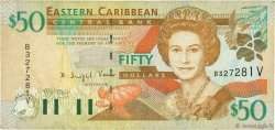 50 Dollars CARAÏBES  2000 P.40v pr.TTB
