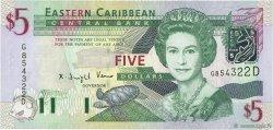 5 Dollars CARAÏBES  2003 P.42d NEUF