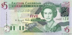 5 Dollars CARAÏBES  2003 P.42v NEUF