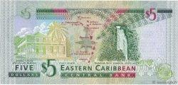 5 Dollars CARAÏBES  2008 P.47a pr.NEUF