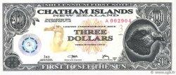 3 Dollars ILES CHATHAM  2001  NEUF