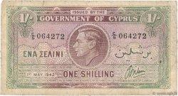 1 Shilling CHYPRE  1942 P.20 pr.TB