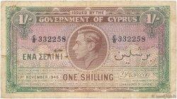 1 Shilling CHYPRE  1946 P.20 TB