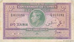 2 Shillings CHYPRE  1942 P.21 TB+