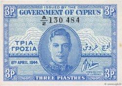3 Piastres CHYPRE  1944 P.28a pr.NEUF