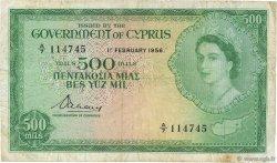 500 Mils CHYPRE  1956 P.34a B+